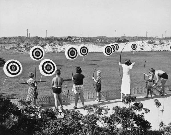 Archery Photograph - Jones Beach Archery Range by Underwood Archives