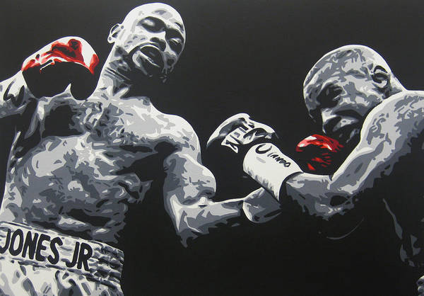 Trinidad Painting - Jones Jr Vs Trinidad by Geo Thomson