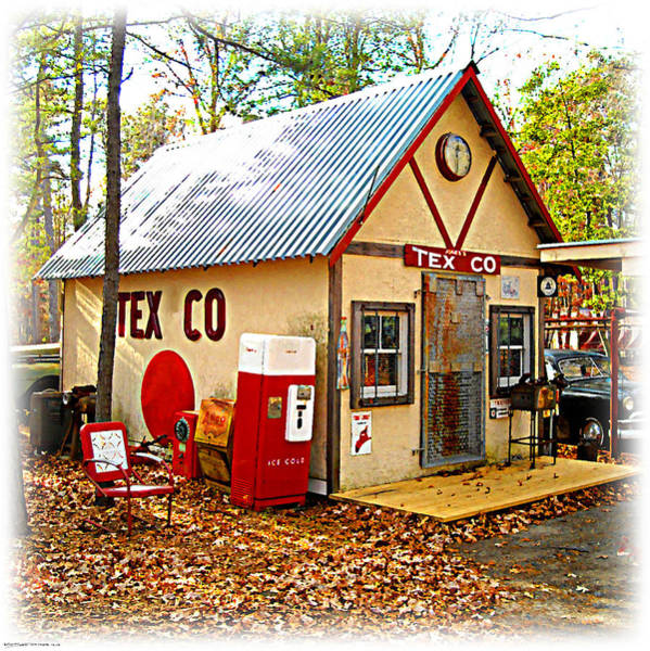 Digital Art - Jones' Tex Co Station by K Scott Teeters