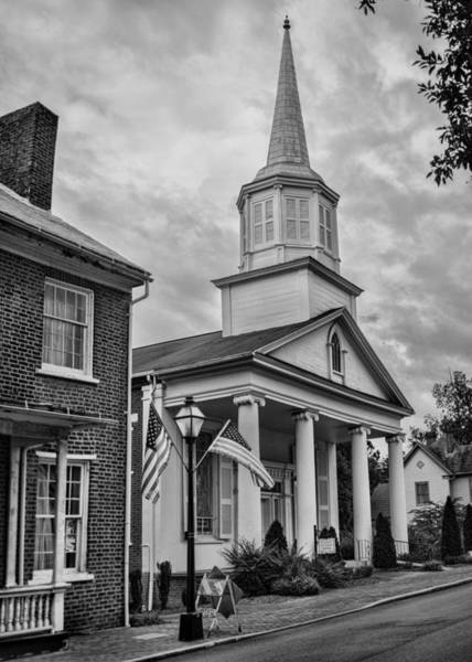 Photograph - Jonesboro Methodist Church Bw by Heather Applegate