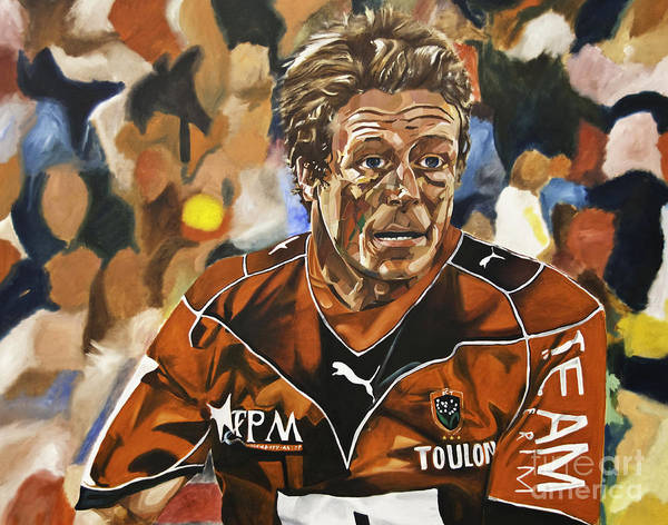 Painting - Jonny Wilkinson by James Lavott