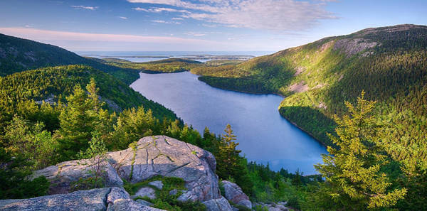 Colored Bubbles Photograph - Jordan Pond From The North Bubble by Panoramic Images