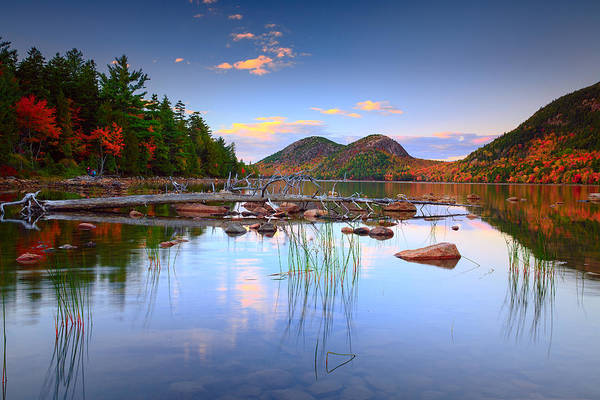 Wall Art - Photograph - Jordan Pond In Fall by Emmanuel Panagiotakis