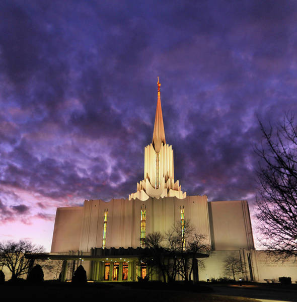 Christianity Photograph - Jordan River Utah Lds Mormon Temple by Utah-based Photographer Ryan Houston