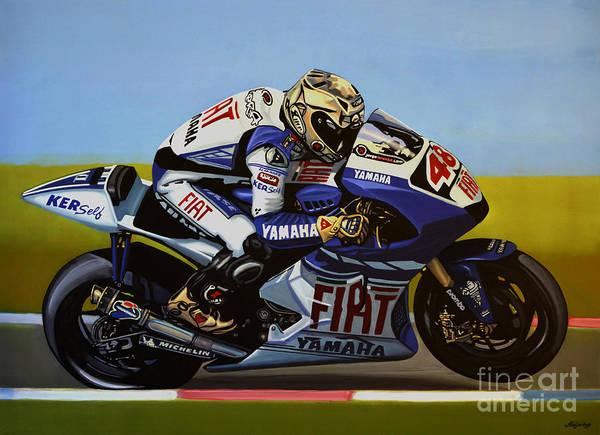 Bike Racing Painting - Jorge Lorenzo by Paul Meijering