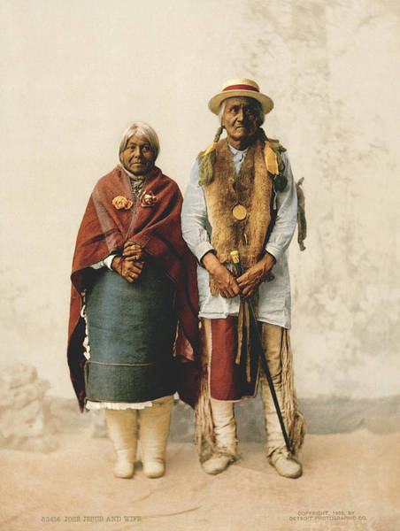 1899 Photograph - Jose Jesus And Wife by Underwood Archives