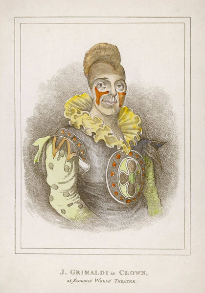 Wall Art - Drawing - Joseph Grimaldi  Clown, As Seen by Mary Evans Picture Library