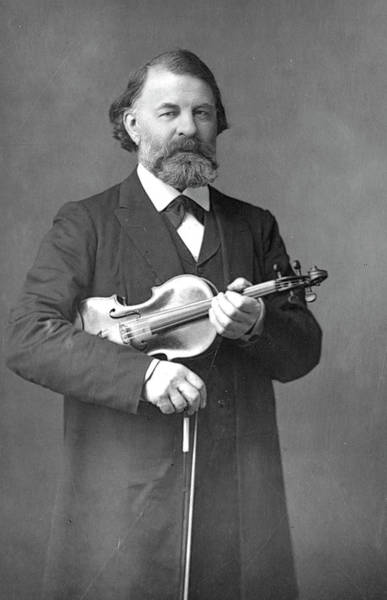 Wall Art - Photograph - Joseph Joachim  Hungarian Violinist by Mary Evans Picture Library
