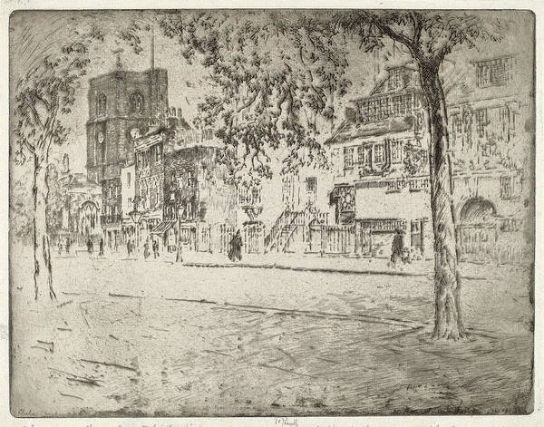 Wall Art - Drawing - Joseph Pennell, House Where Whistler Died by Quint Lox