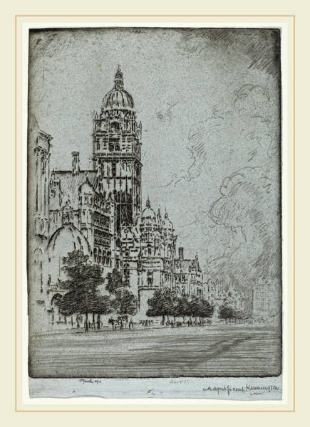 Wall Art - Drawing - Joseph Pennell, Magnificent Kensington, American by Litz Collection