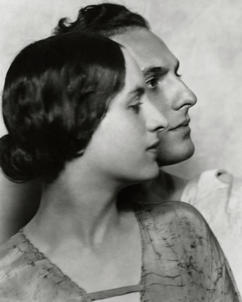 1922 Photograph - Joseph Schildkraut With Elise Bartlett by Nickolas Muray