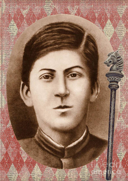 Addressing Photograph - Joseph Stalin 14 Years Old by Vincent Monozlay