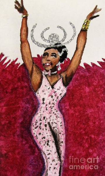 Wall Art - Drawing - Josephine Baker 1 by William Bryant