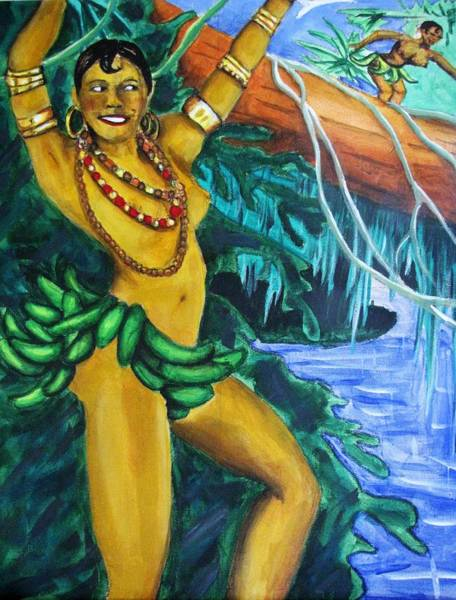 Wall Art - Painting - Josephine Baker 3 by William Bryant