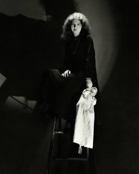 January 1st Photograph - Josephine Hutchinson Sitting On A Stool by Edward Steichen