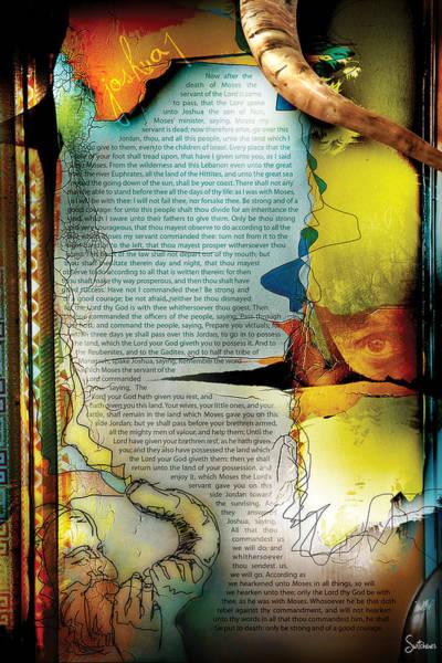 Sacred Heart Digital Art - Joshua 1 by Switchvues Design