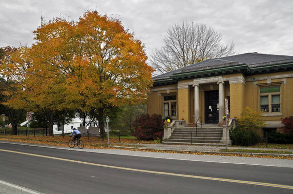 Waitsfield Photograph - Joslin Memorial Library by David Freuthal