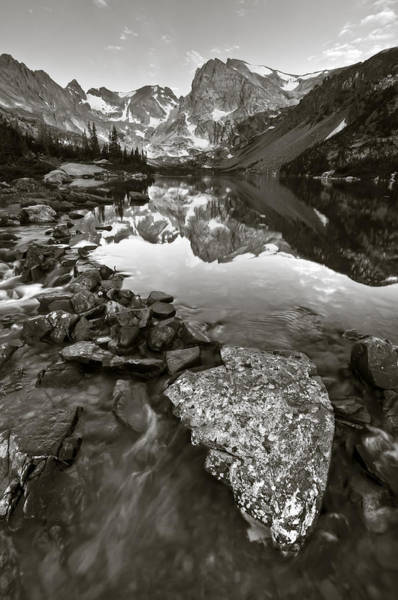Alpenglow Photograph - Journey Down The Mountain by Mike Berenson