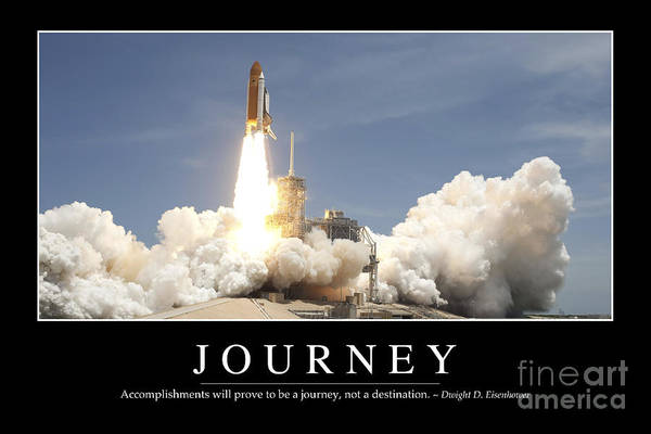 Photograph - Journey Inspirational Quote by Stocktrek Images