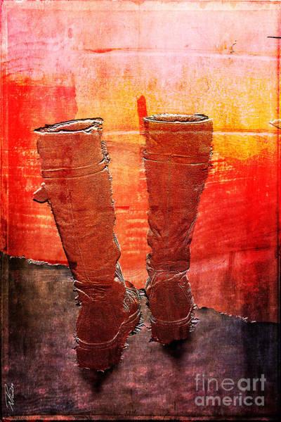 Mixed Media - Journey Journal - Burning Bridges by Nicole Philippi
