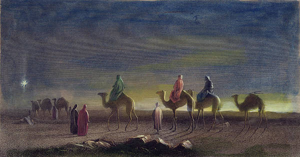 Camel Rider Painting - Journey Of The Magi by Granger