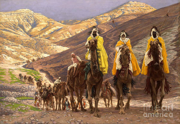 3 Wall Art - Painting - Journey Of The Magi by Tissot