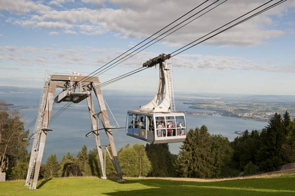 Ropeway Photograph - Journey To The Clouds by Holger Spiering