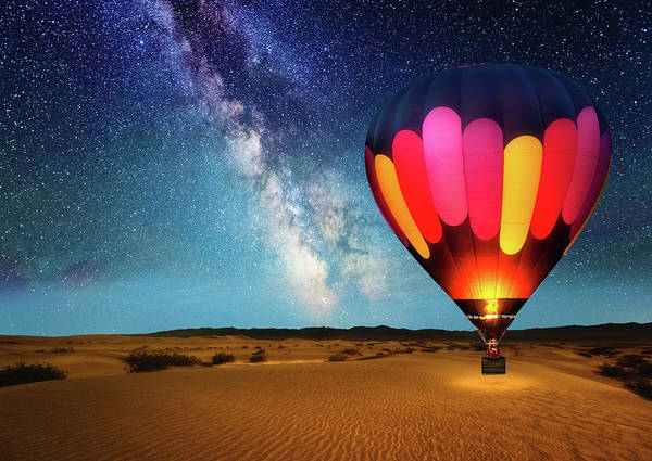 Air Balloon Wall Art - Photograph - Journey Under The Stars Alt 2018 by Matt Anderson