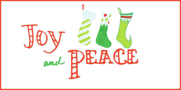 Wall Art - Painting - Joy And Peace Stockings by Pamela J. Wingard