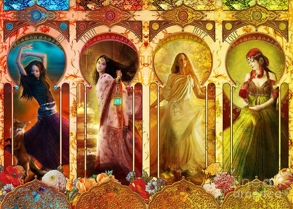 Multi Photograph - Joy Faith Hope Love by MGL Meiklejohn Graphics Licensing