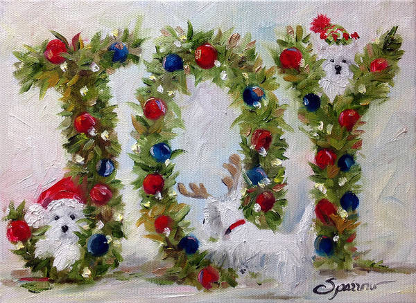 Ornament Painting - JOY by Mary Sparrow