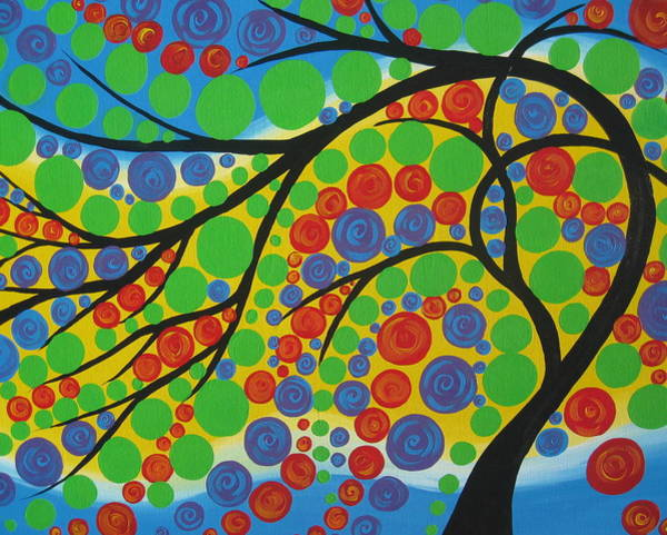 Framing Painting - Joy In The Branches by Cathy Jacobs