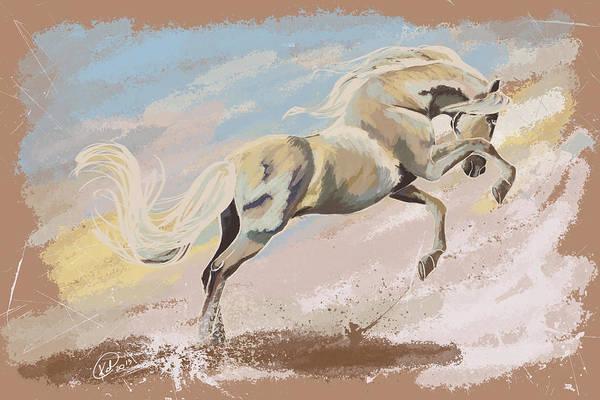 Andalusian Stallion Wall Art - Digital Art - Joy by Kate Black