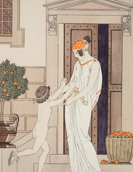 Greek House Painting - Joy Of Infancy by Joseph Kuhn-Regnier