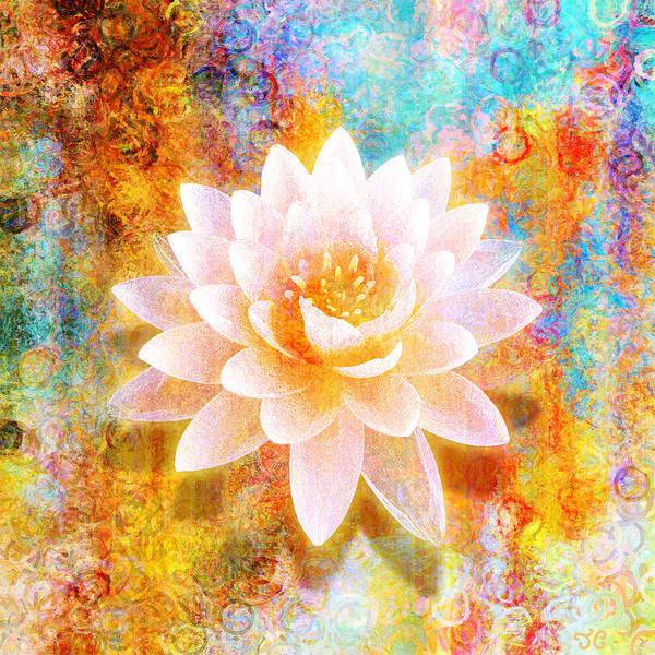 Lotus Mixed Media - Joy Of Life by Jaison Cianelli