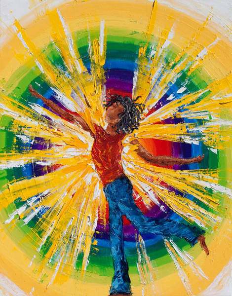 Overflow Painting - Joy Within by Cynthia Christine