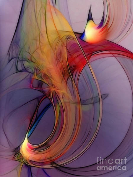 Translucent Digital Art - Joyful Leap-abstract Art by Karin Kuhlmann