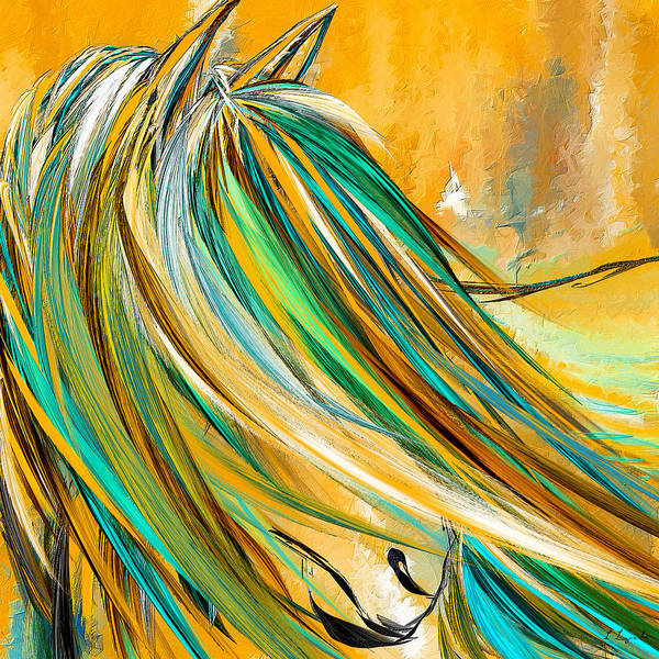 Wall Art - Painting - Joyous Soul- Yellow And Turquoise Artwork by Lourry Legarde