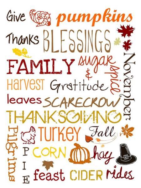 Thanksgiving Digital Art - Joys Of Fall by Jaime Friedman