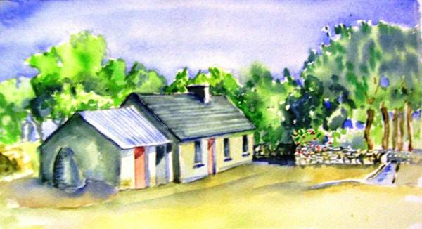 Follow Me Painting - Patrick Mc Call Ancestral Home. by Trudi Doyle