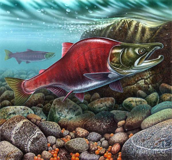 Painting - Jqw Sockeye Salmon  by JQ Licensing