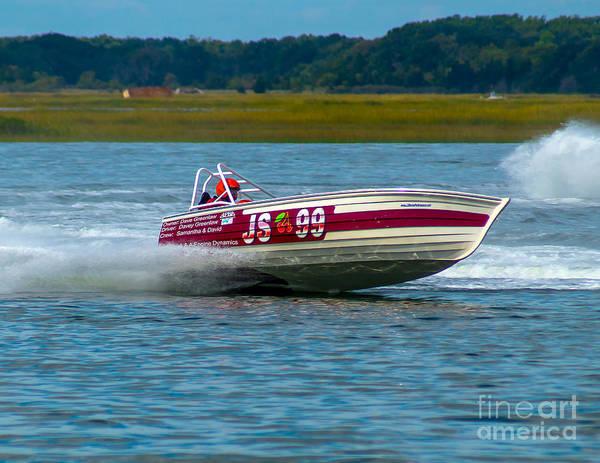 Photograph - Js-99 Veri Cheri Too Jersey Speed Skiff by Nick Zelinsky