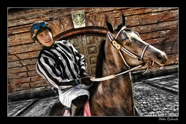 Photograph - Juan Hermandez On Horse  Play N Win by Blake Richards