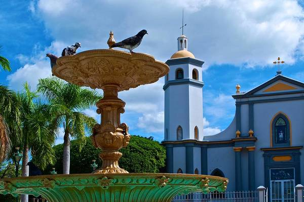 Photograph - Juana Diaz Church And Plaza II by Ricardo J Ruiz de Porras