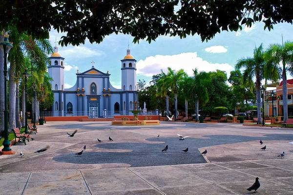Photograph - Juana Diaz Church And Plaza by Ricardo J Ruiz de Porras