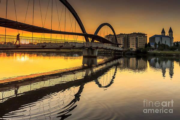 Jubia Bridge Naron Galicia Spain Art Print