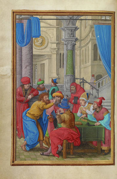 Wall Art - Painting - Judas Receiving The Thirty Pieces Of Silver Simon Bening by Litz Collection