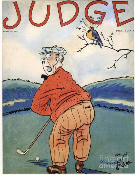 Nineteen-thirties Wall Art - Drawing - Judge 1930s Usa Golf Magazines by The Advertising Archives