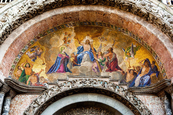 Photograph - Judgement Day Mosaic At St Marks In Venice by Paul Cowan