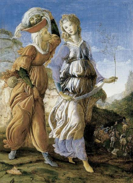 Biblical Photograph - Judith With The Head Of Holofernes, C.1469-70 Tempera On Panel Recto Of 403008 by Sandro Botticelli